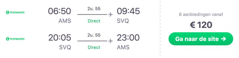 Goedkope vlucht Amsterdam naar Sevilla in Spanje