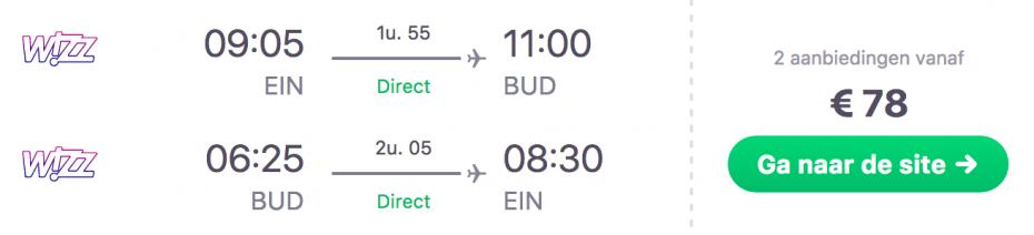 Goedkope vlucht van Eindhoven naar Boedapest!