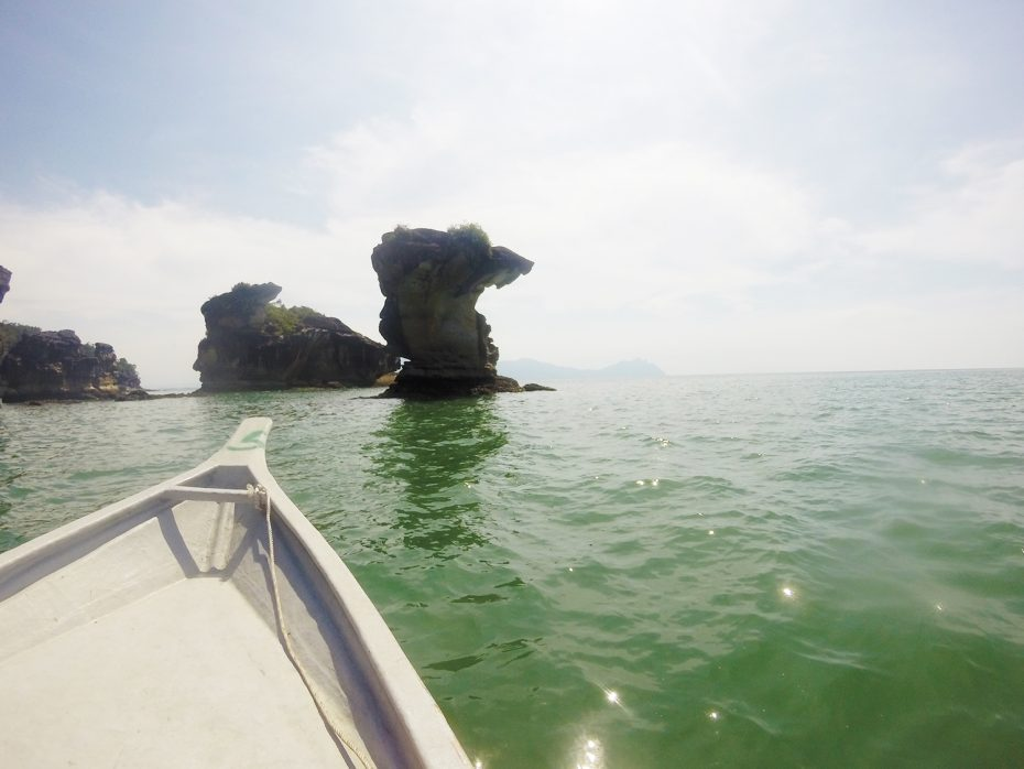 Bekende rots bij het Bako National Park