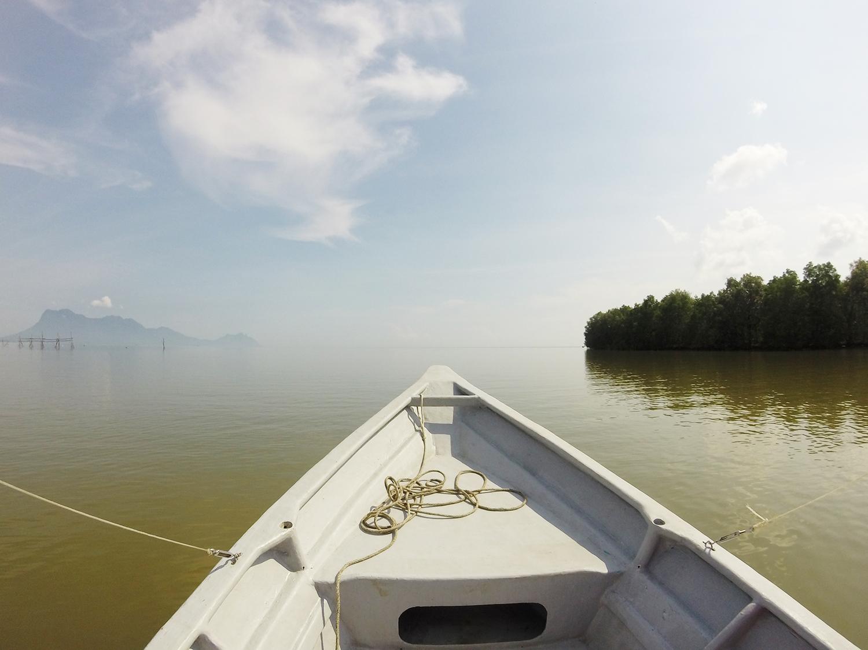 Boottocht richting Bako National Park