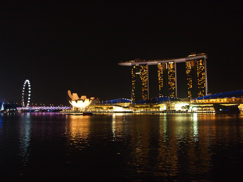 Singapore view en uitzicht op Marina Bay Sands