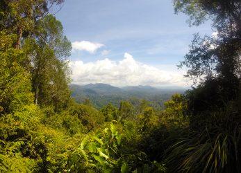 Na een pittige klim werden we beloond met dit prachtige uitzicht!