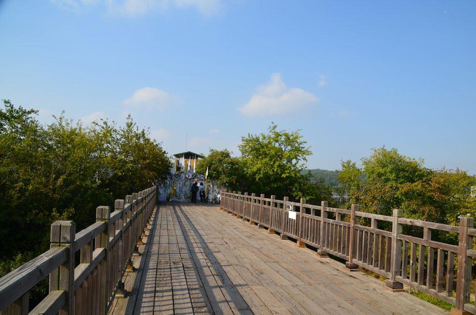 De Koreaanse DMZ (Demilitarized Zone, ofwel gedemilitariseerde zone)