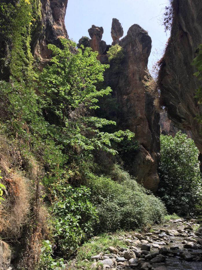 De kloof Los Cahorros (in Monachil bij Granada)