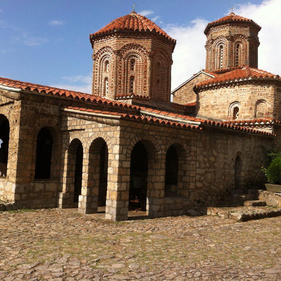 Een kerkje in Sv. Naum