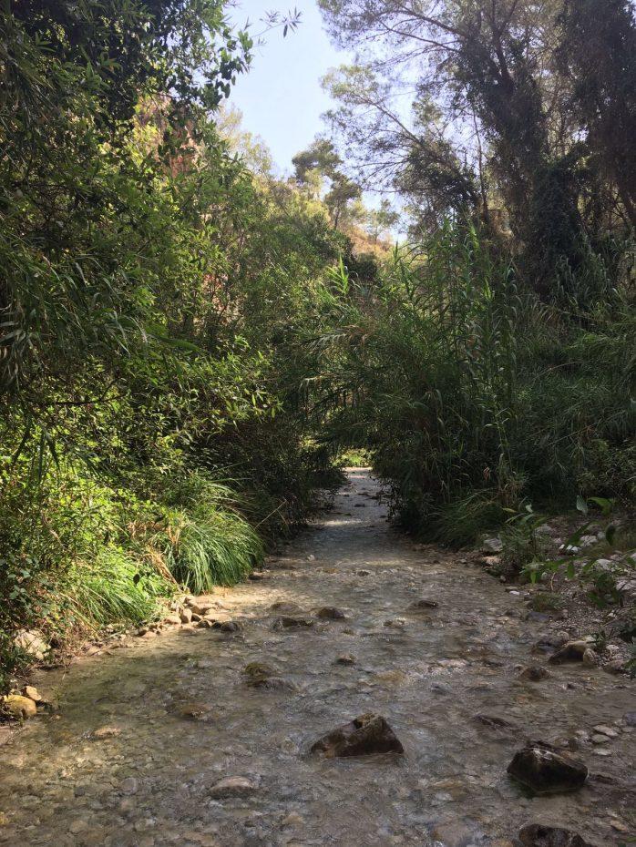 Rio Chillar (in Nerja, Andalusië)