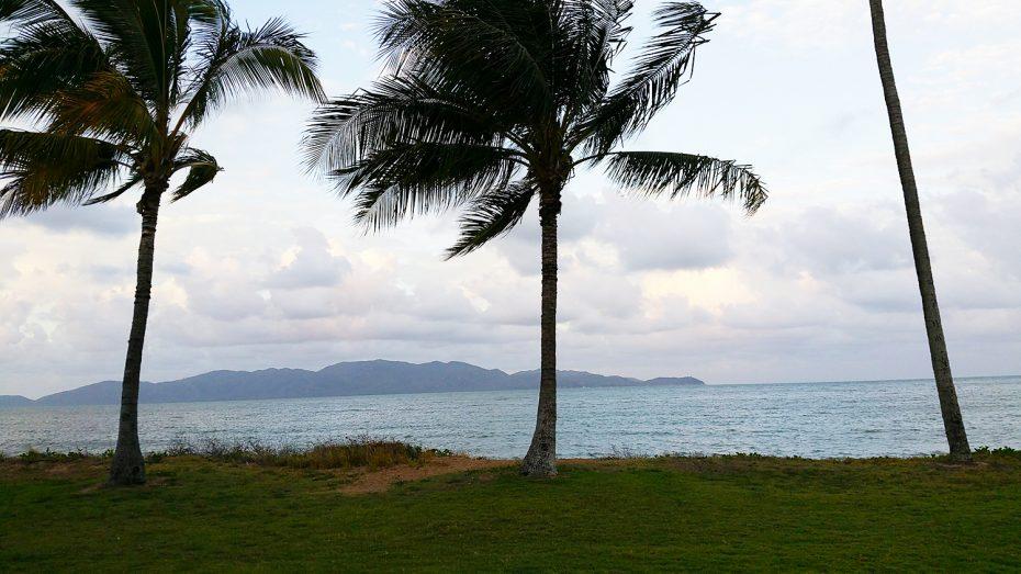 Mooi uitzicht tijdens wandeling richting het centrum van Townsville
