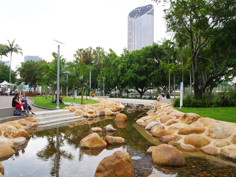 Prachtige aangelegde parken in de stad Brisbane!