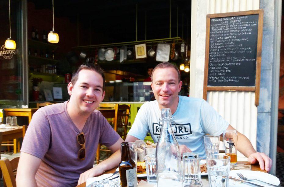 Jesper en Martin tijdens de foodsafari!