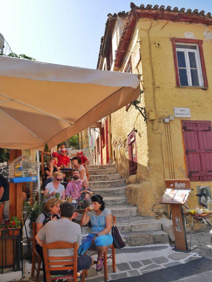 Sfeervolle straatjes in de Plaka in Athene!