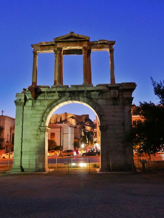 Tempel van Zeus in de avond!