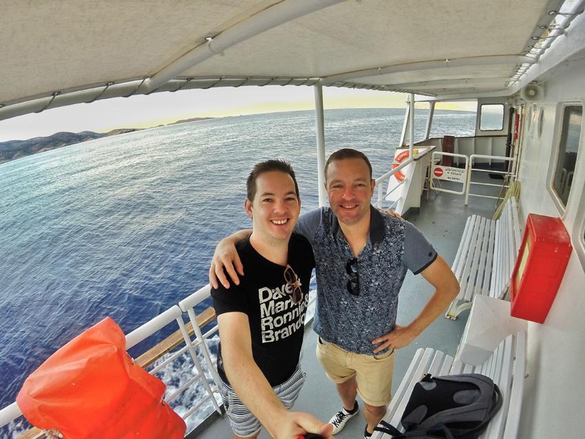 Onderweg naar het Griekse eiland Naxos