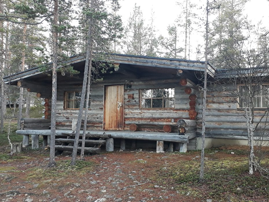 Houten bungalow in Lapland