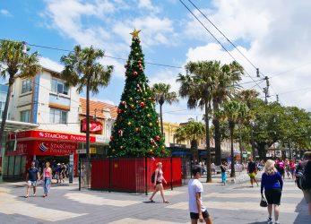 Kerst in Manly, Australië