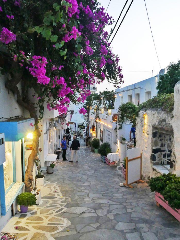 Leuke straatjes in Naxos-stad