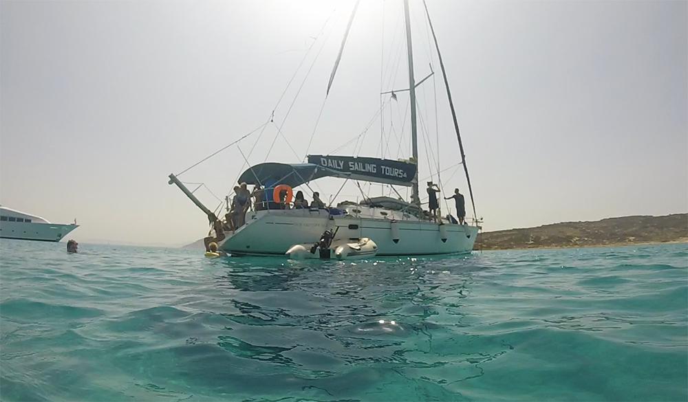 Onze zeilboot