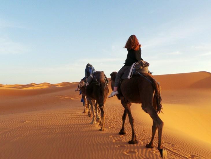De Merzouga woestijn in Marokko