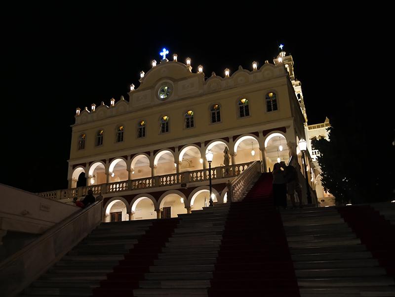 Kerk op Tinos: echte bezienswaardigheid
