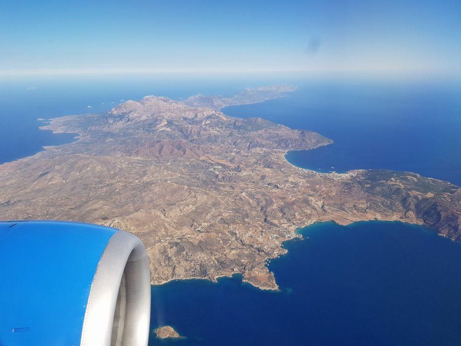 Aankomst Karpathos. Hele eiland te zien! Foto: Mariëlle Walter