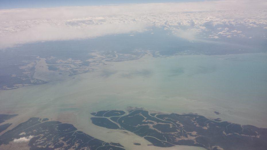 Luchtfoto vanuit vliegtuig, oostkust Australië