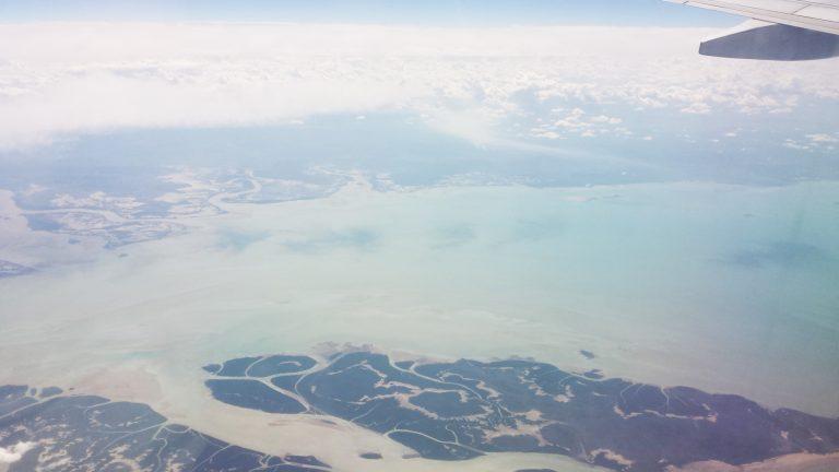 Luchtfoto vanuit het vliegtuig