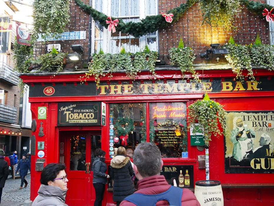 Kerst in Dublin: The Temple Bar