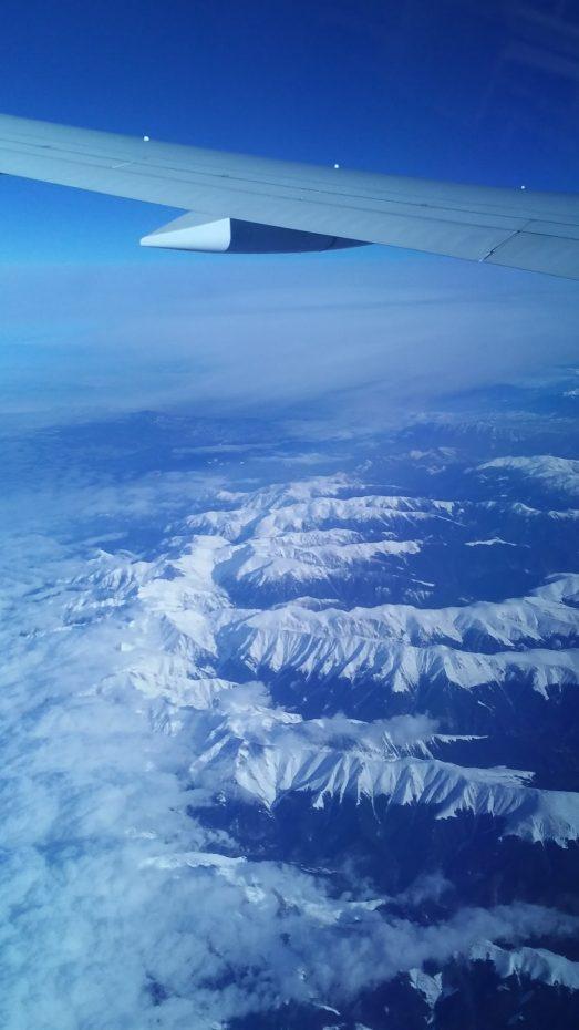 Prachtige luchtfoto vanuit het vliegtuig tijdens vlucht richting Brisbane