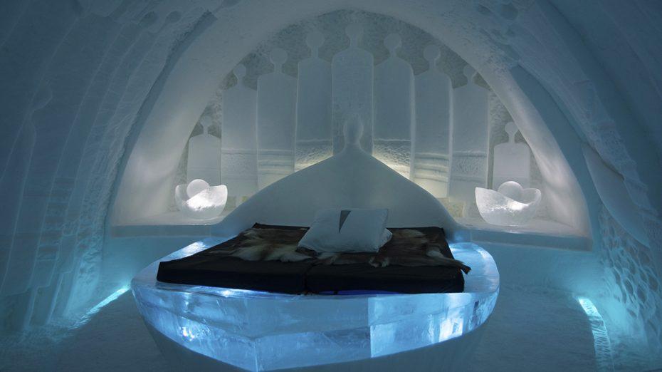 Kamer in het ijshotel