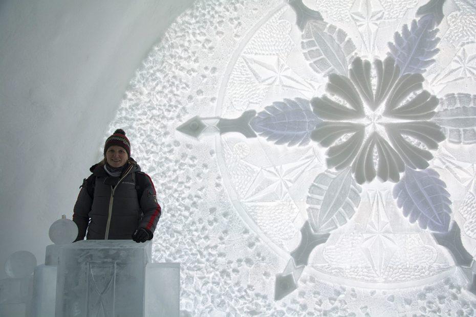 In het ijshotel, Icehotel in Jukkasjärvi