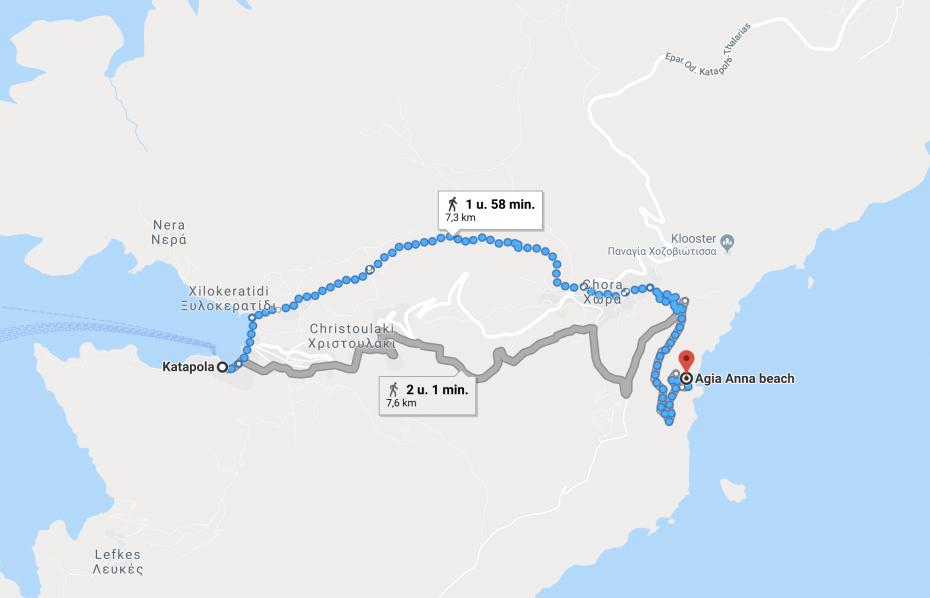 Hikingtocht: Van Katapola naar Agia Anna Beach