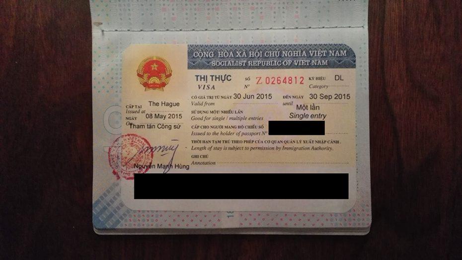 Visum van Vietnam