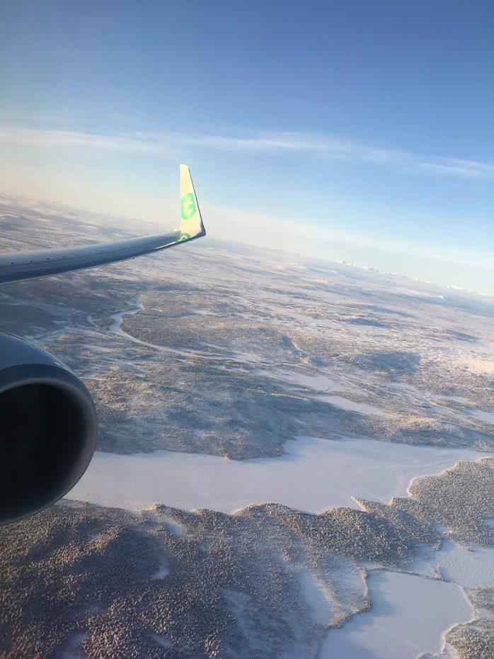 Vlucht van Amsterdam naar Kiruna
