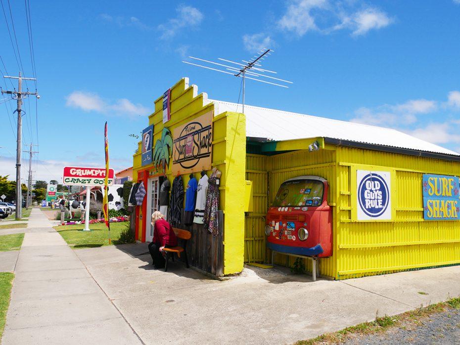 Hele hippie achtige winkeltjes op Phillip Island