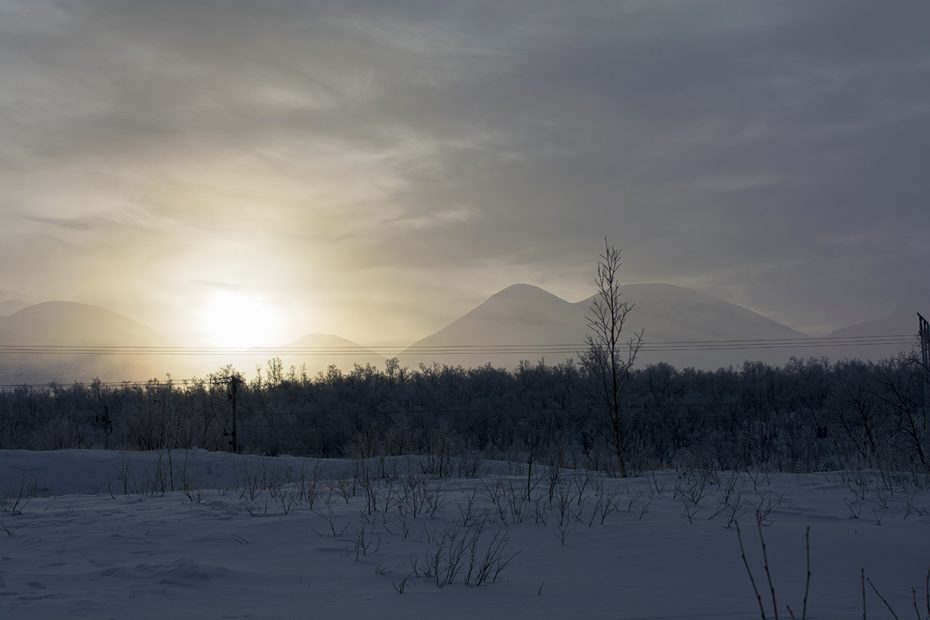 Zonsondergang in Kiruna