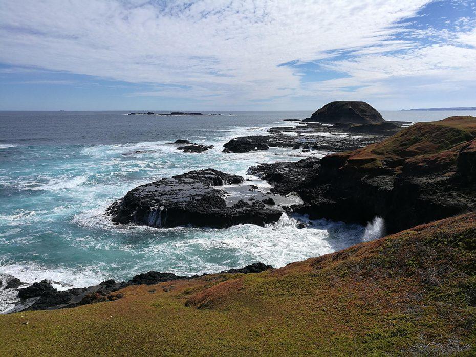 De ruige kust van Phillip Island