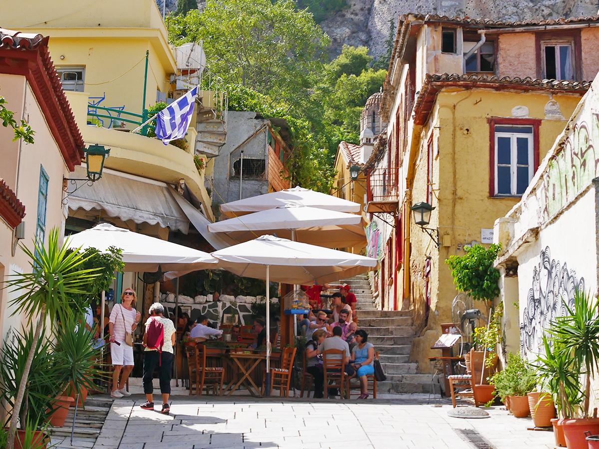 Plaka, oude volksbuurt in Athene