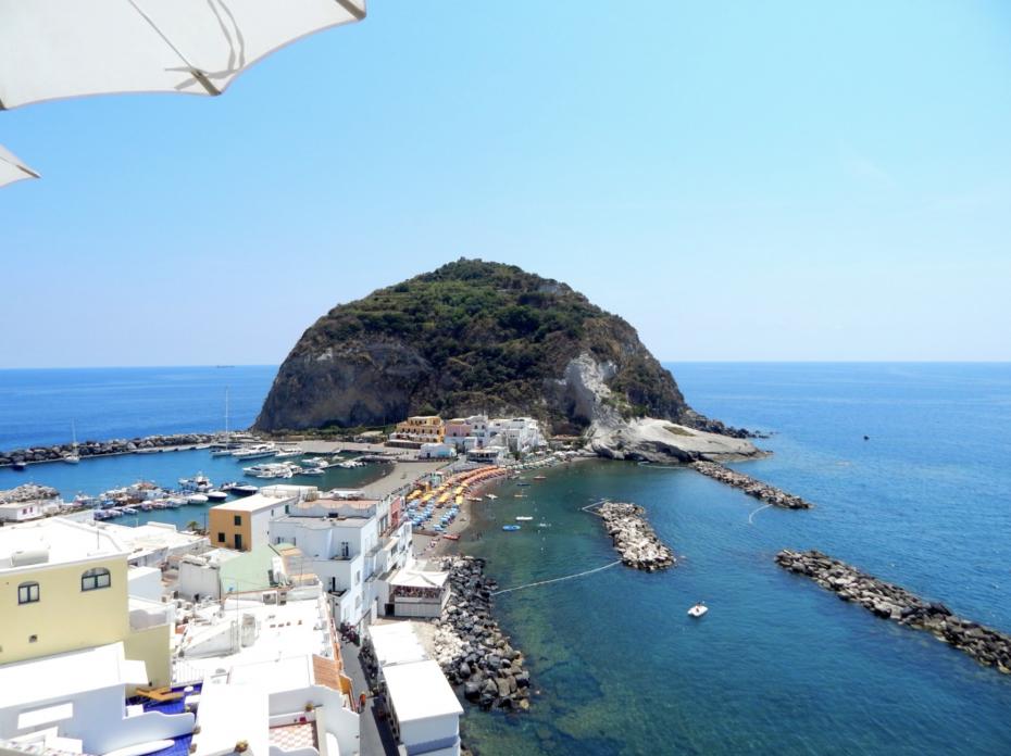 Een van de mooie uitzichten van Ischia