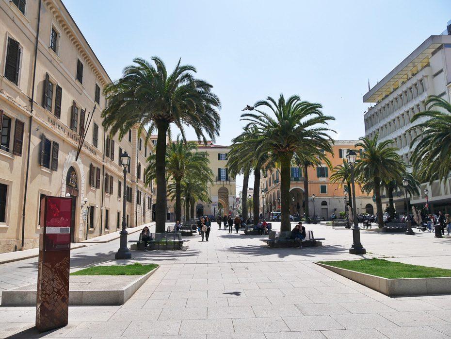 Mooi plein in Sassari