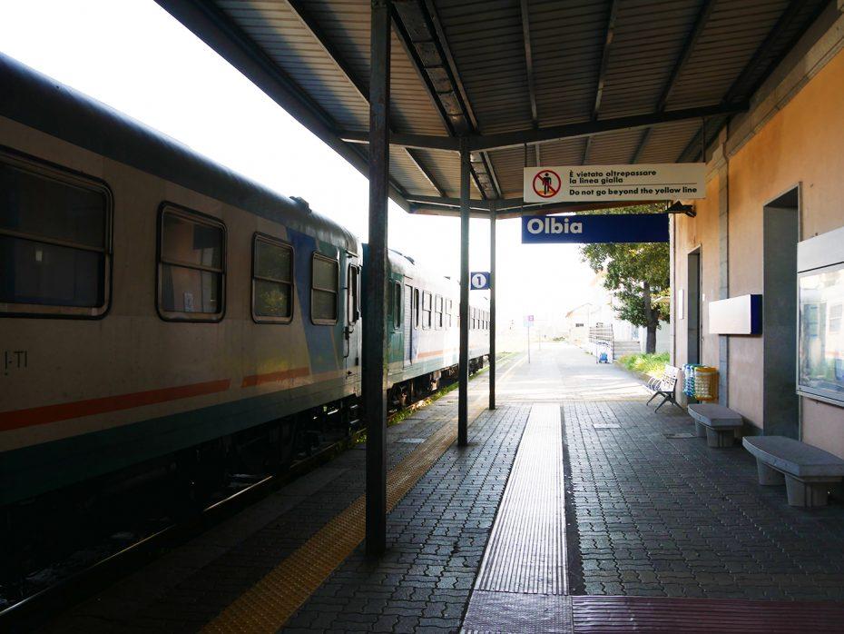 Treinstation van Olbia