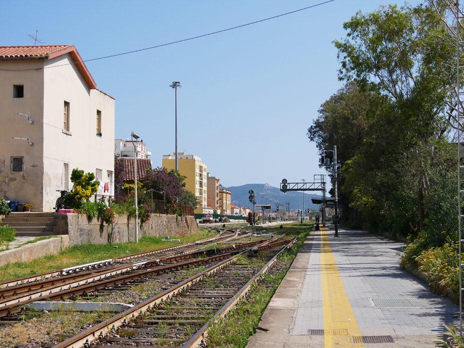 Het treinstation van Olbia