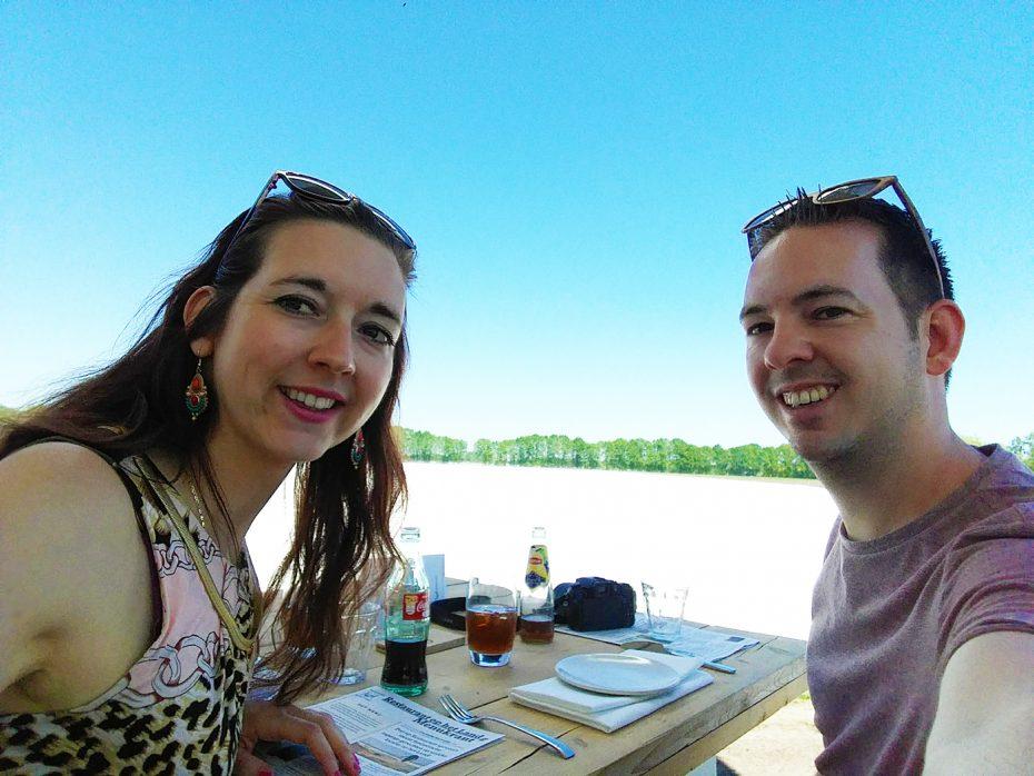 Eten met een uitzicht op de aspergevelden! Mooie ervaring!