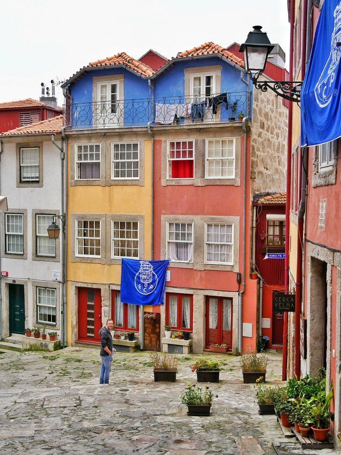 Mooie gekleurde huisjes in Porto