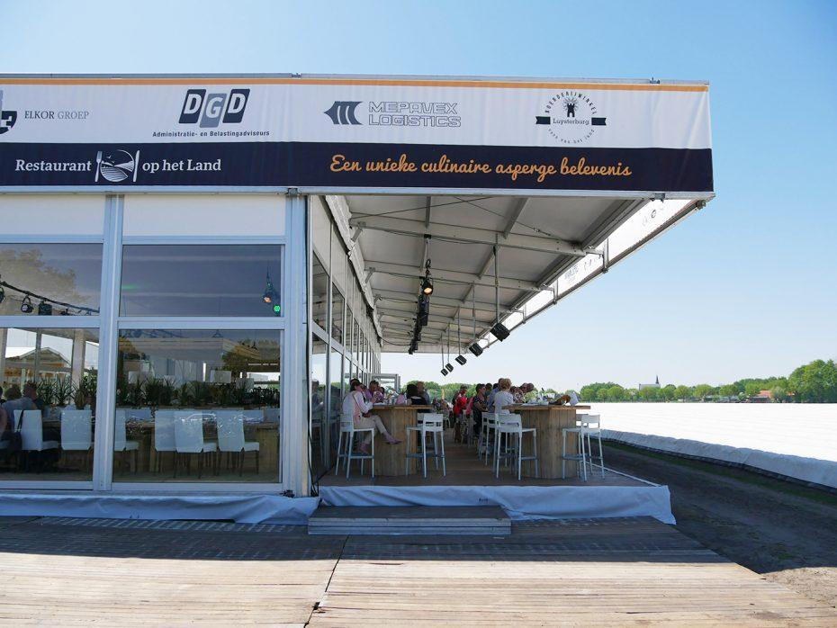 Pop-up restaurant, eten tussen de aspergevelden