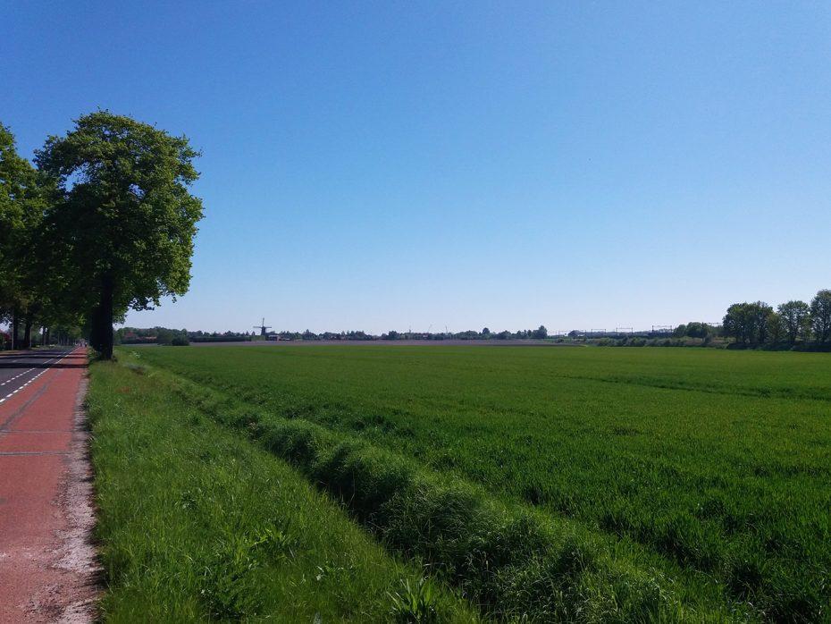 Prachtige omgeving tijdens onze fietstocht richting Wouw