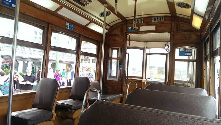 Binnenkant van de tram