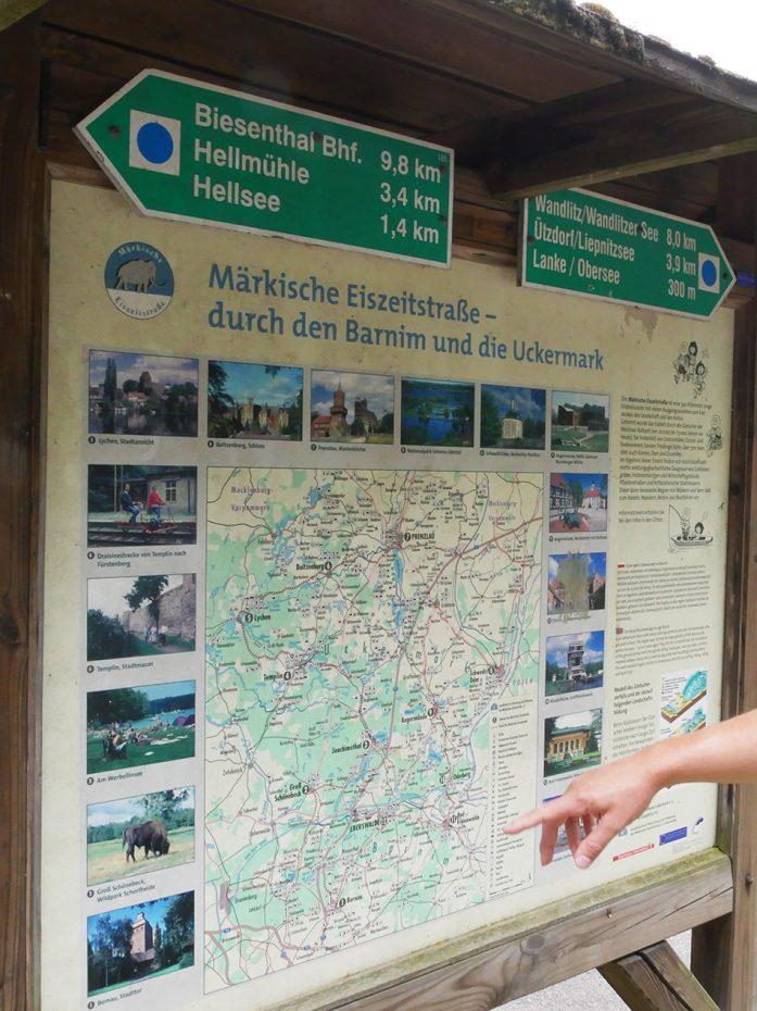 Kaart van de omgeving van Brandenburg
