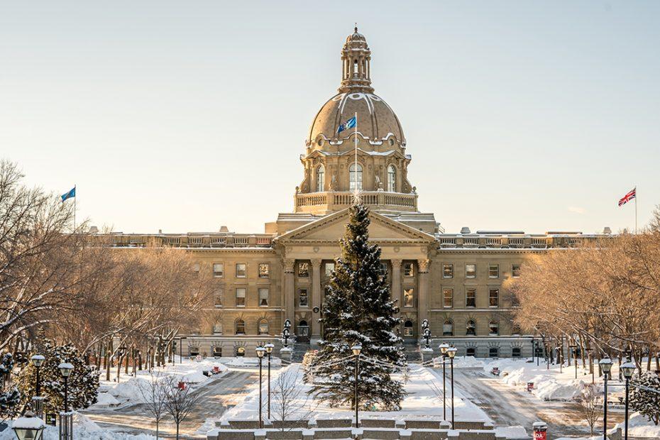 Alberta Legislature Building in Edmonton