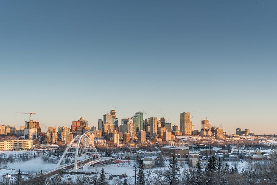 Walterdale Bridge in Edmonton