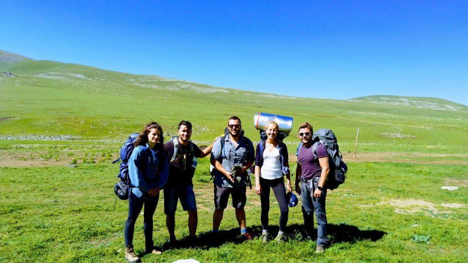 Hiken door Mongolië