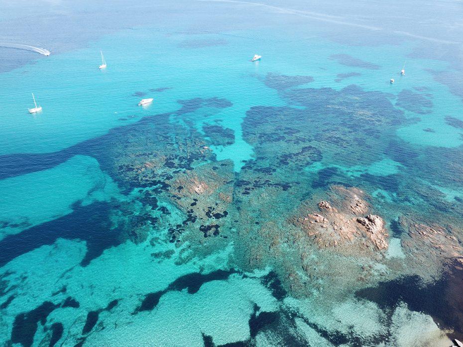 Het prachtige Sardinië vanuit de lucht
